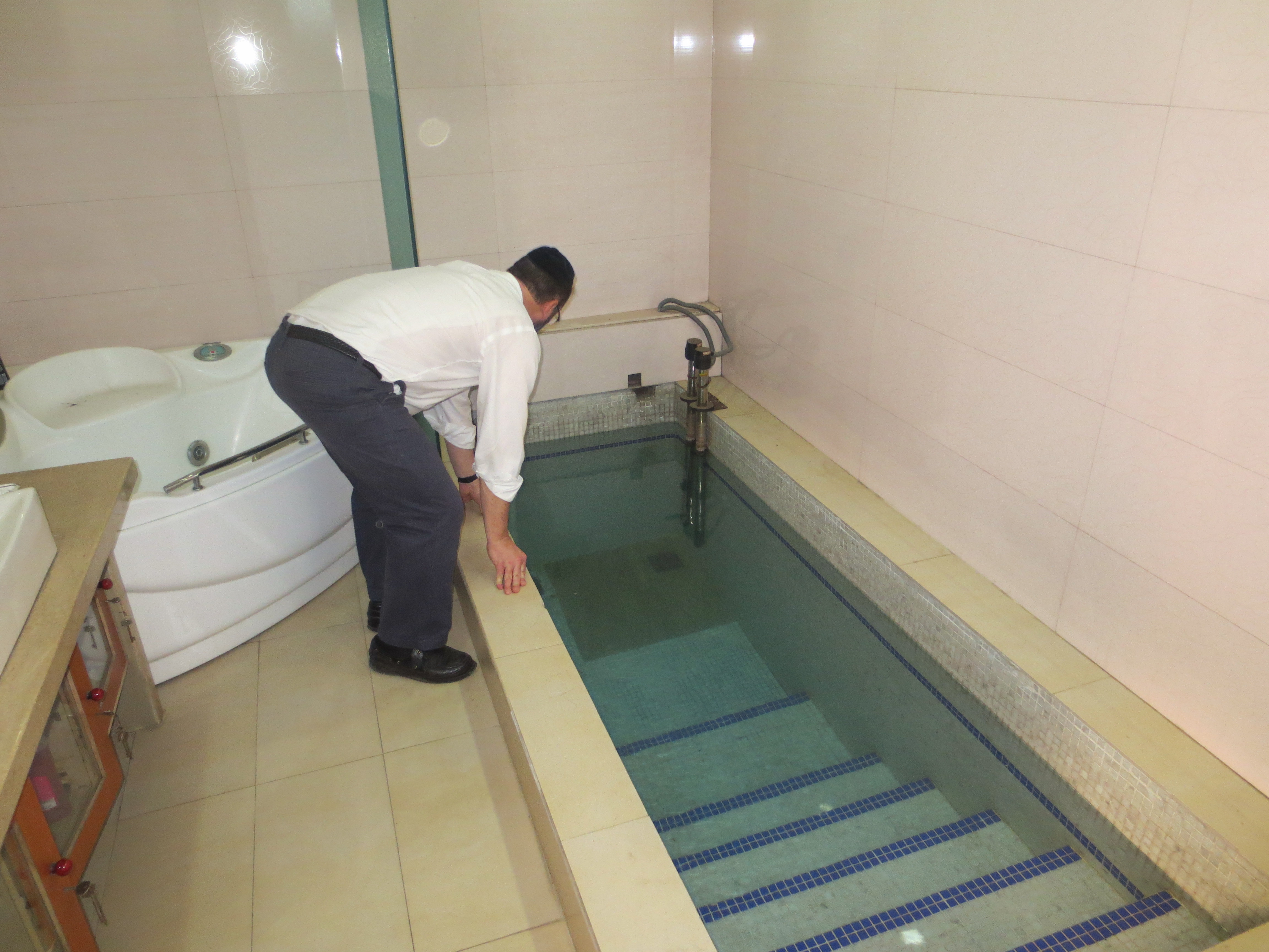 checking the mikveh