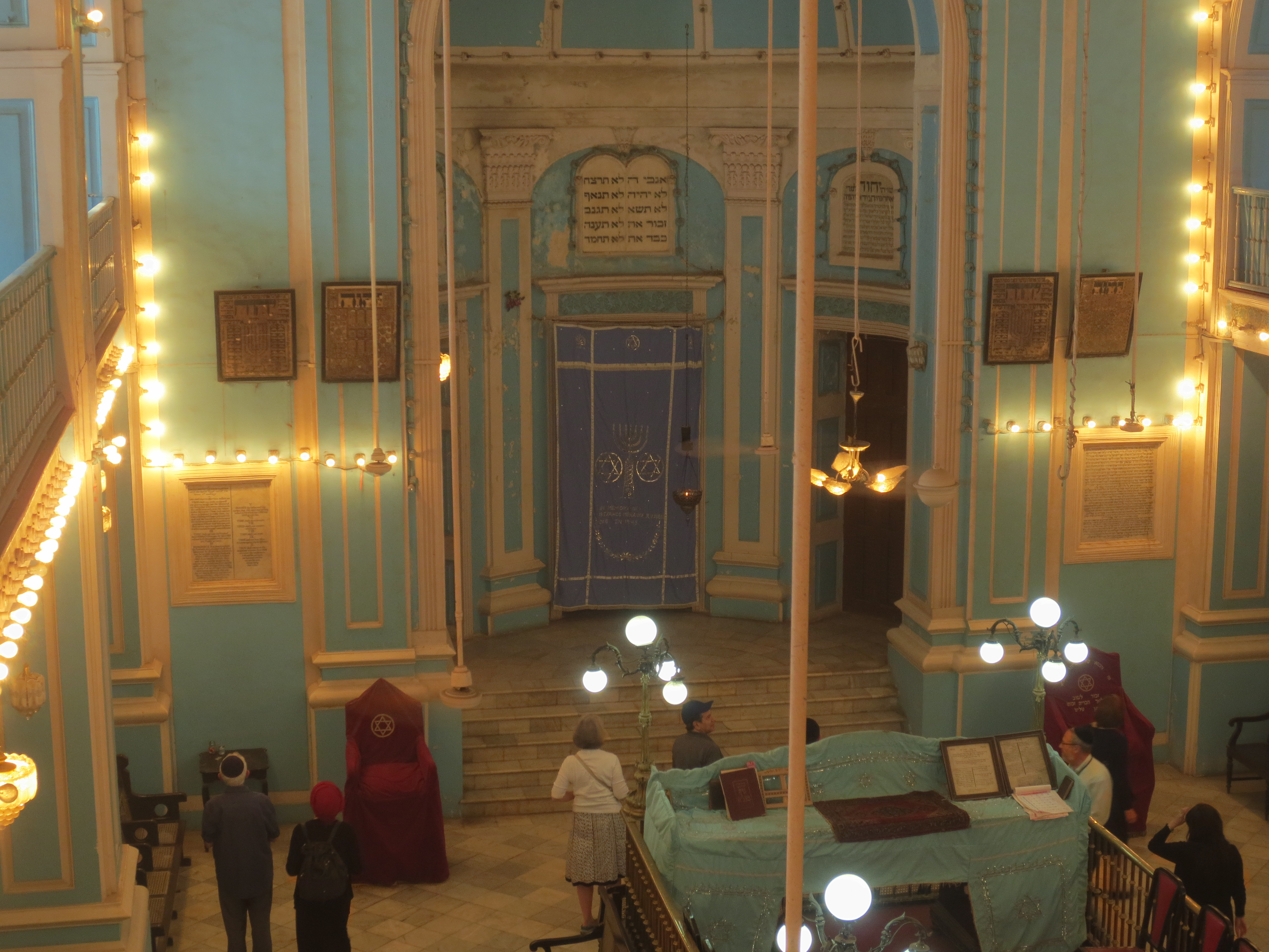 from the balcony of the Magen David Shul