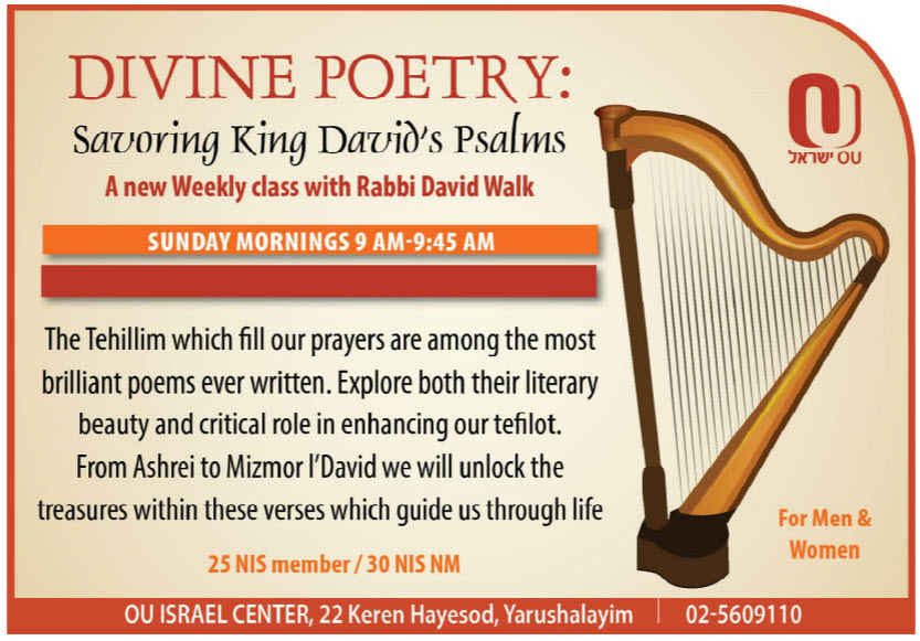 Rabbi David Walk: Tehillim - Divine Poetry