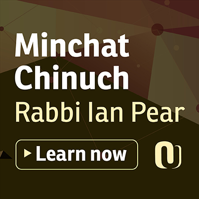 Meaning in Mitzvot (Minchat Chinuch) with Rabbi Ian Pear