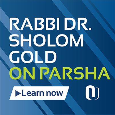 Parshat HaShavua with Rabbi Sholom Gold