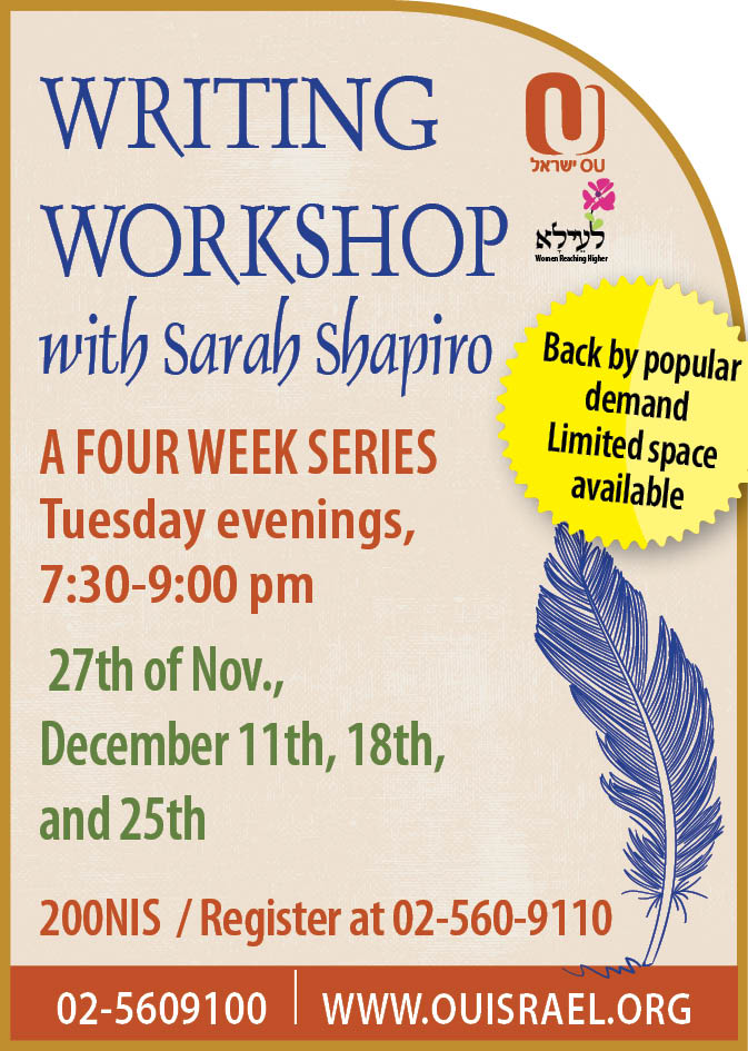 Writing workshop with Sarah Shapiro