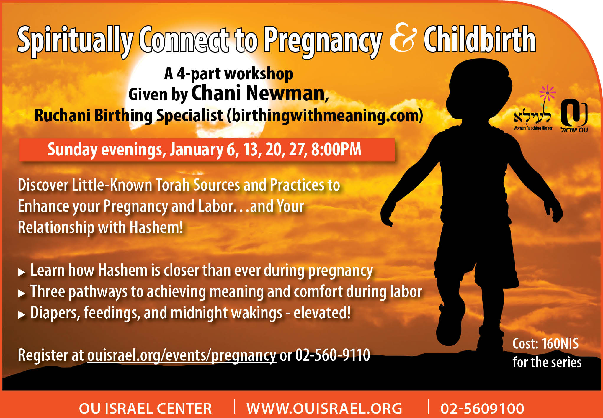 Spiritually Connect to Pregnancy and Childbirth  A 4-part workshop  Given byChani Newman