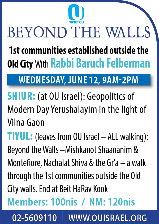 Beyond the Walls–1stcommunities outside the Old City walls